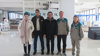 Iranian Customer Visits Chengyi Factory