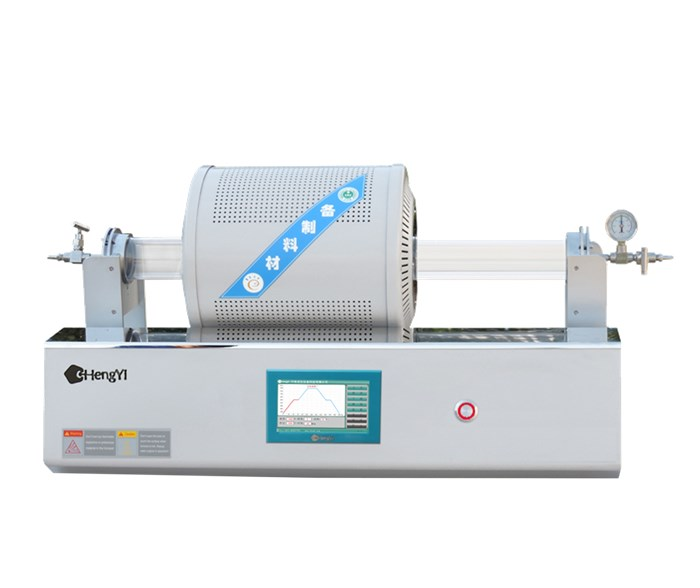 CHY-CMT1280 Chamber Movable 1200 degree Tube Furnace with O.D80mm Quartz Tube