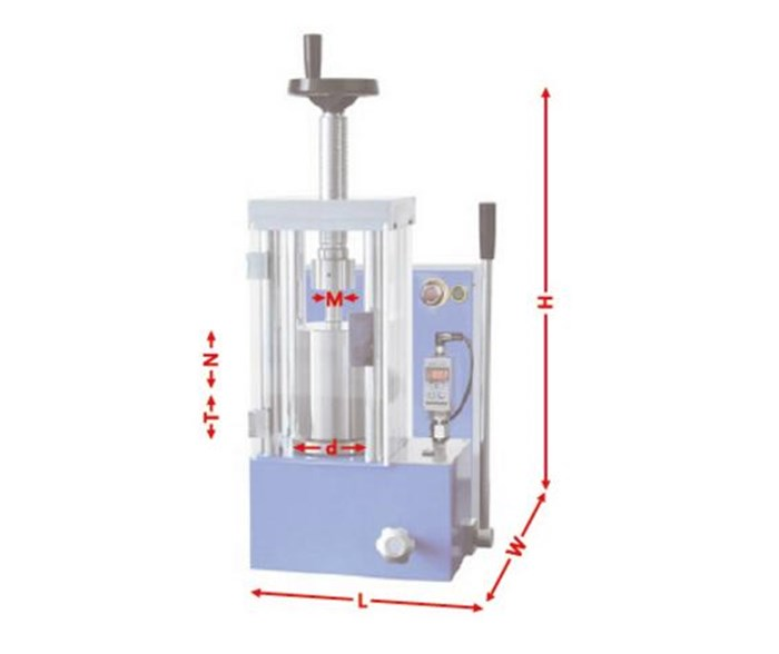 CHY-20J 20 Ton Electric Cold Isostatic Press Machine with O.D30*120 Vessel upto 300MPa